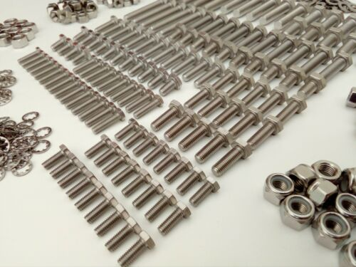 Nuts /& Washer BMC Classic Mini 1959-2000 Pack 500pc Stainless UNF Hex Bolts
