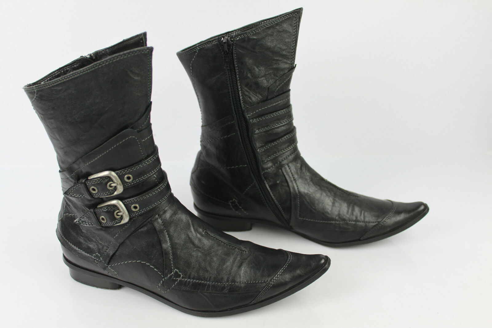 Boots REGARD All Leather Black T 36 VERY GOOD CONDITION