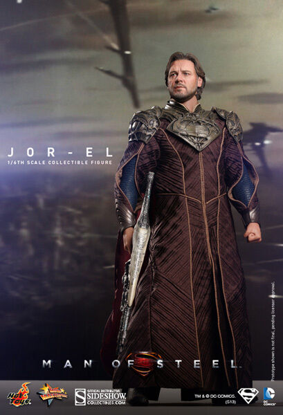 Hot Toys men D'Acciaio Jor-El Russell Crowe 1 6 Sideshow Superman Padre Nuovo
