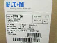 Eaton Cutler Hammer Bw2150 Main Circuit Breaker 2 Pole 150 Amps Type Bw