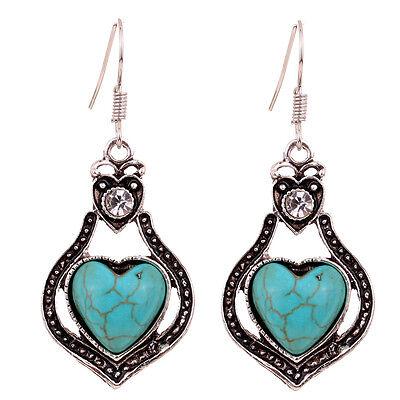 Pretty Turquoise Jewelry Tibetan Silver Dangle Earrings Mutil Style For Choose