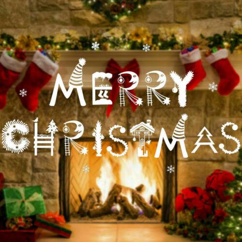 Christmas Xmas Santa Removable Window Stickers Art Decals Wall Home Shop Decor !