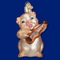 musical Pig (12435) Old World Christmas Glass Ornament - Free Gift Box