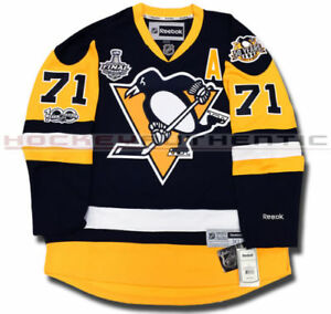 buy popular c1e59 f8318 Details about Pittsburgh Penguins Stanley Cup Champion Jersey #71 Evgeni  Malkin Stitched