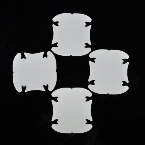 8 Pcs Black Car Side Door Edge Defender Protector Trim Guard Protection Strip