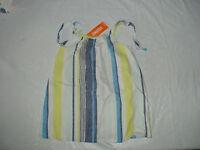 Gymboree Blue Safari Blue Yellow-green Stripe Summer Tie Tank Top Shirt
