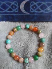 Fertility Pregnancy Healing bracelet Alabaster Rose Quartz Moonstone Crystal