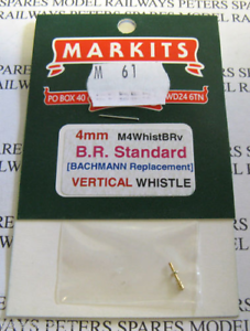 Markits M61 M4WhistBRv 4mm Scale British Railways Standard Vertical Whistle