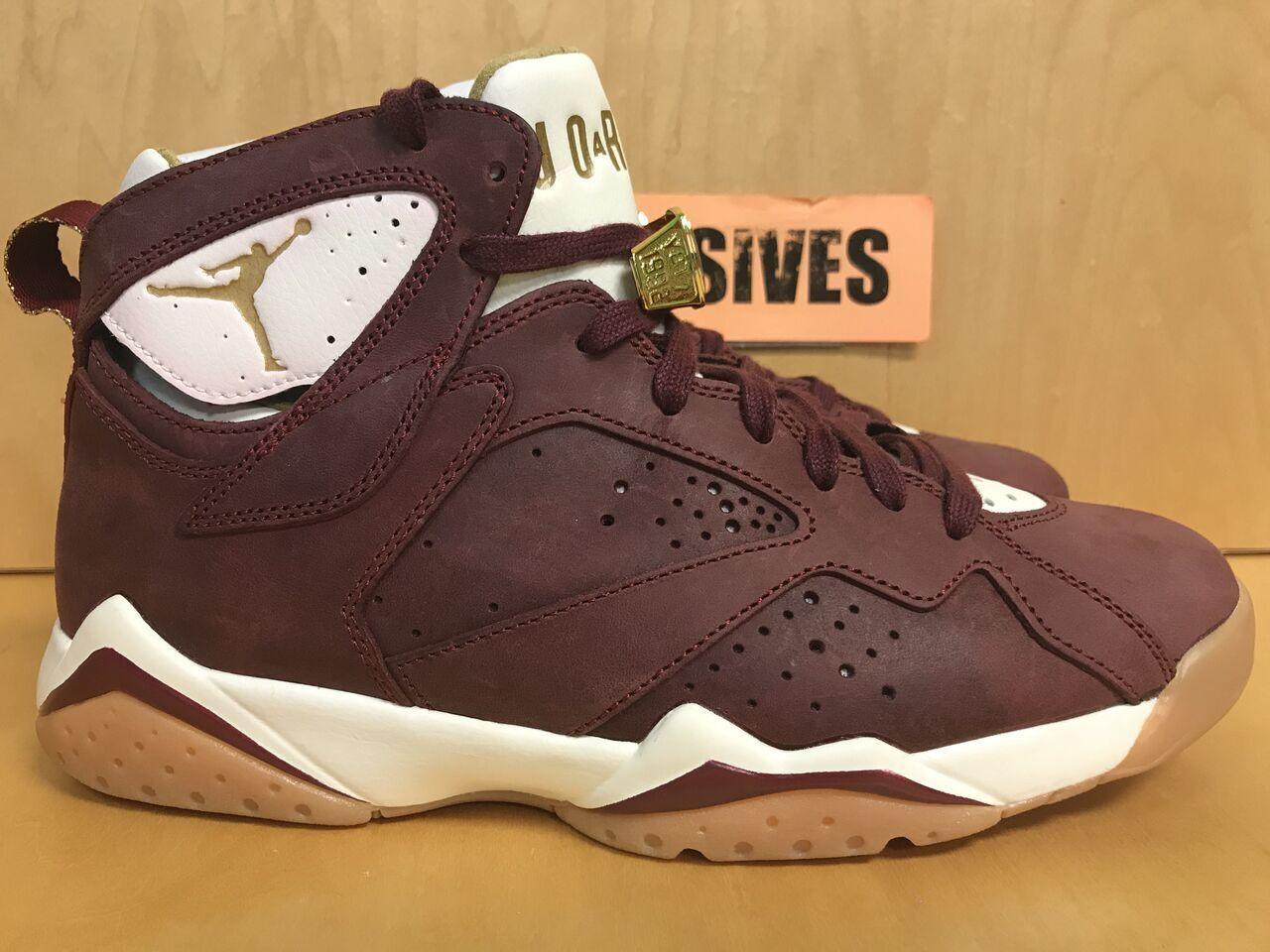 Nike Air Jordan 7 Retro C&C CIGARS & CHAMPAGNE 725093-630 Size 9 Pre-Owned
