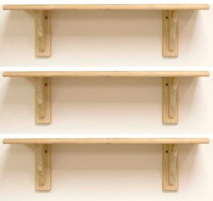 3-x-Natural-Wood-Pine-Shelf-Kit-585mm-Unfinished-Storage-Shelves-Rounded-Edge