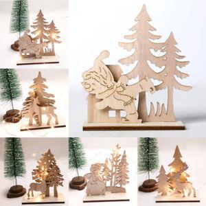 en-bois-Sculpture-en-bois-Buck-Decoration-de-table-Decoration-de-Noel-Pere-Noel