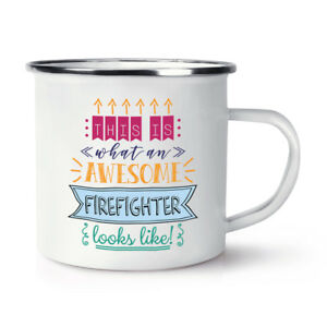 This-Is-What-an-Awesome-BOMBERO-Looks-Like-retro-esmalte-Taza-Divertido-Mejor