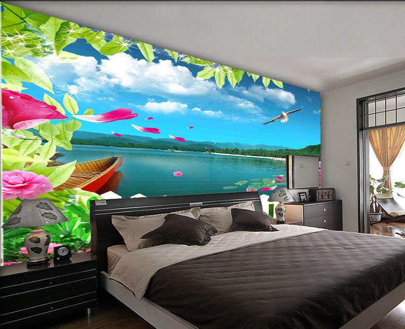 Preceding Free Lake 3D Full Wall Mural Photo Wallpaper Printing Home Kids Decor