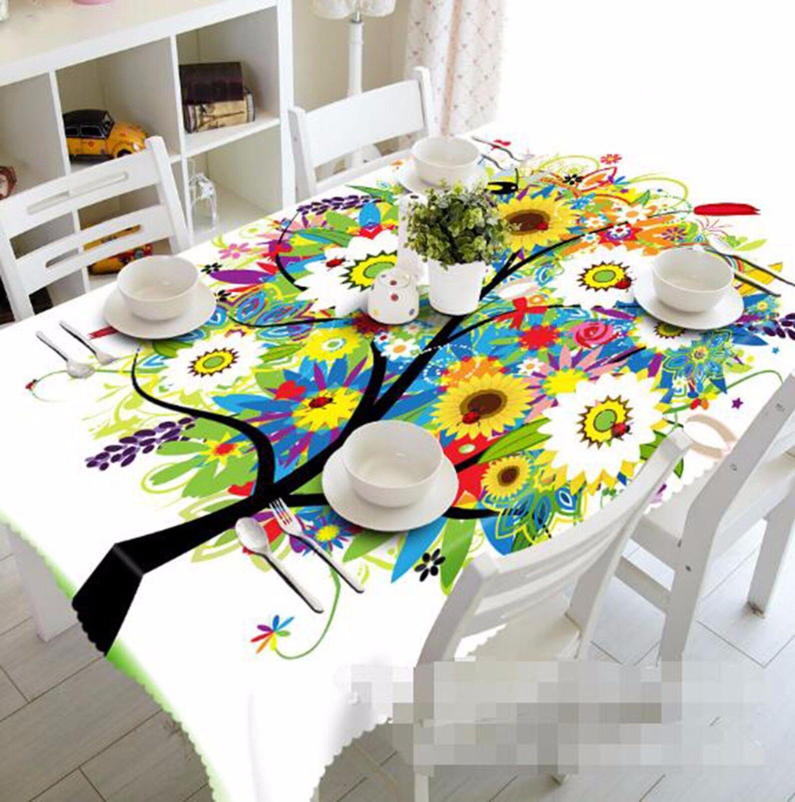3D voitureIchatURE 49 Nappe Table Cover Cloth fête d'anniversaire AJ papier peint Royaume-Uni Citron