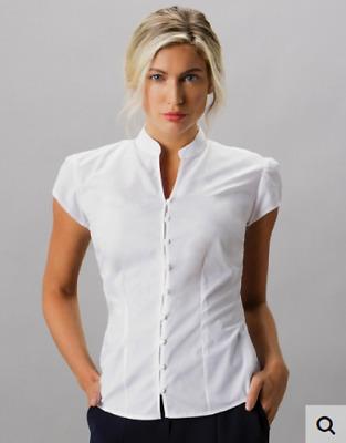 size 40 3d7da 92348 Camicia donna manica corta colo alla coreana Tailored Fit SSL Kustom Kit |  eBay