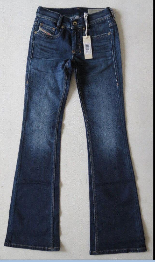 Diesel Women Jeans Stretch Slim Bootcut Low Waist 819L 23 W x 30 New with Tags