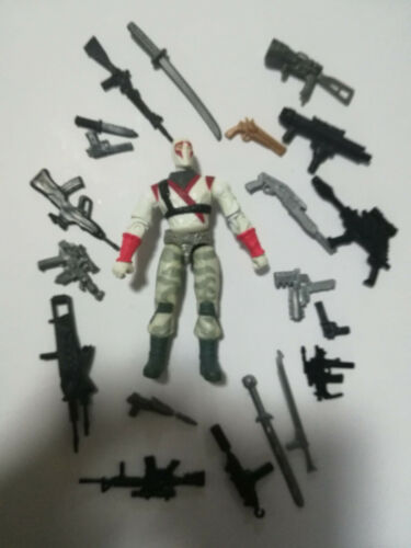 """3.75/"""" Gi Joe  Red White Storm Shadow with Weapons Rare Action Figure"""