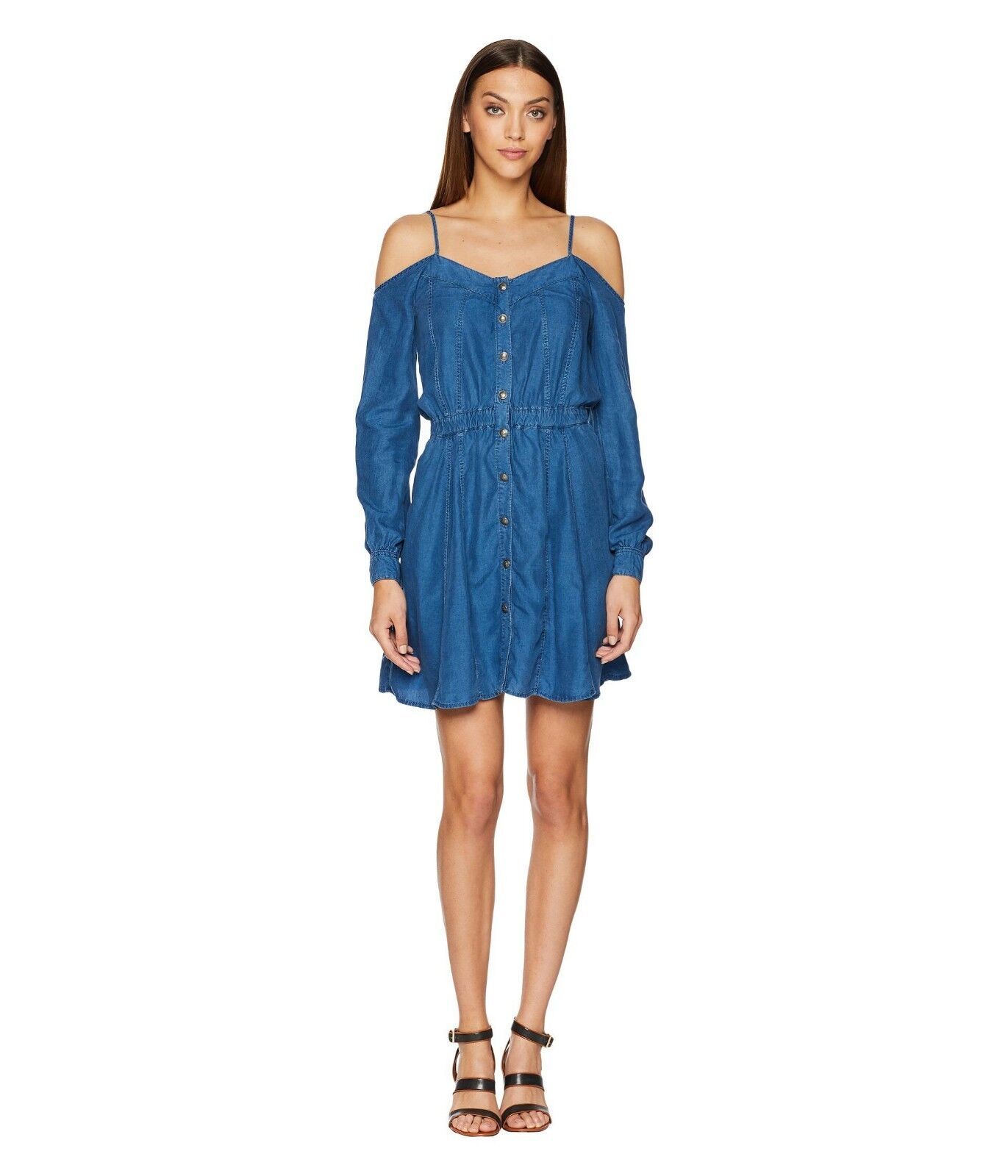 The Kooples Denim Mini Bare Off-shoulder Dress Size XS And S M New Without Tags