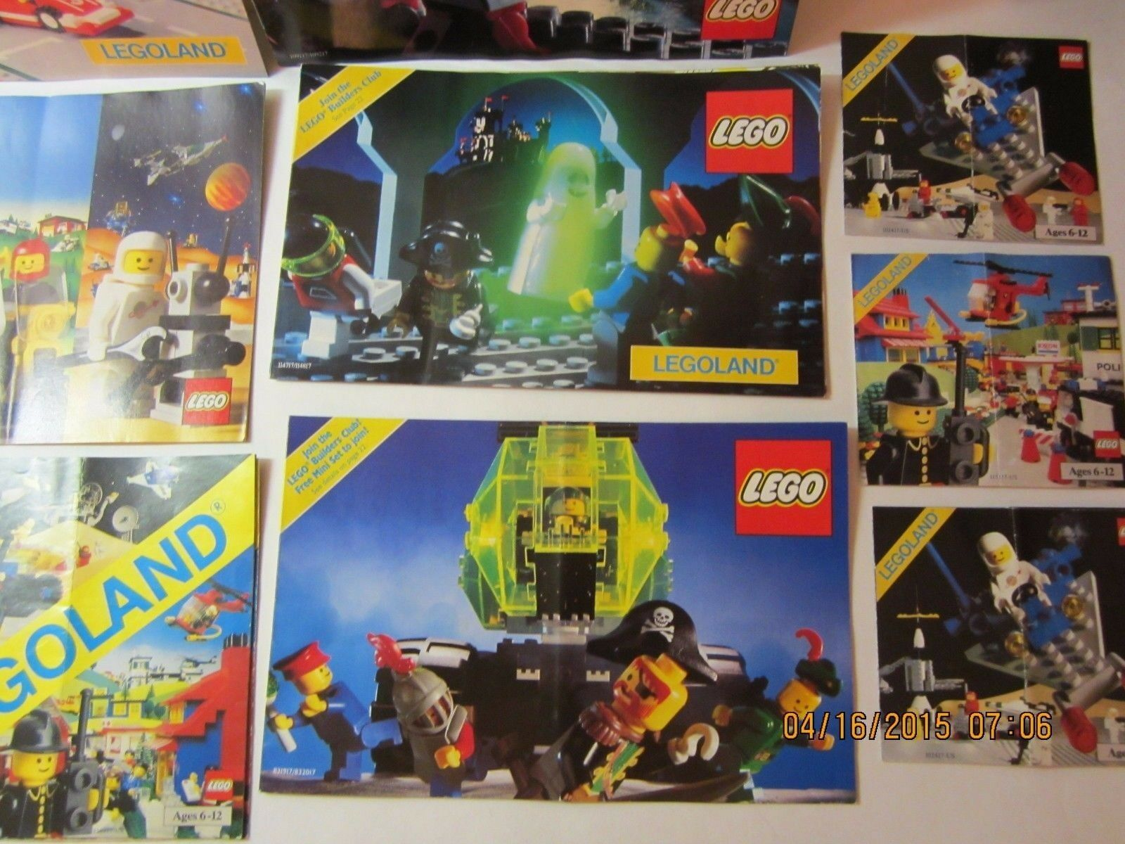 Vintage Lego Brochures Books Books Books Lot Of 14-1982 -1991-Great References-Space, Castle 5c28c9