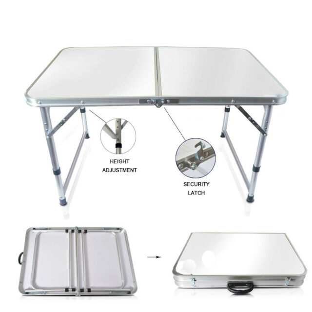 3ft Portable Aluminium Folding Foldable Table Camping Outdoor Picnic Bbq Wedding
