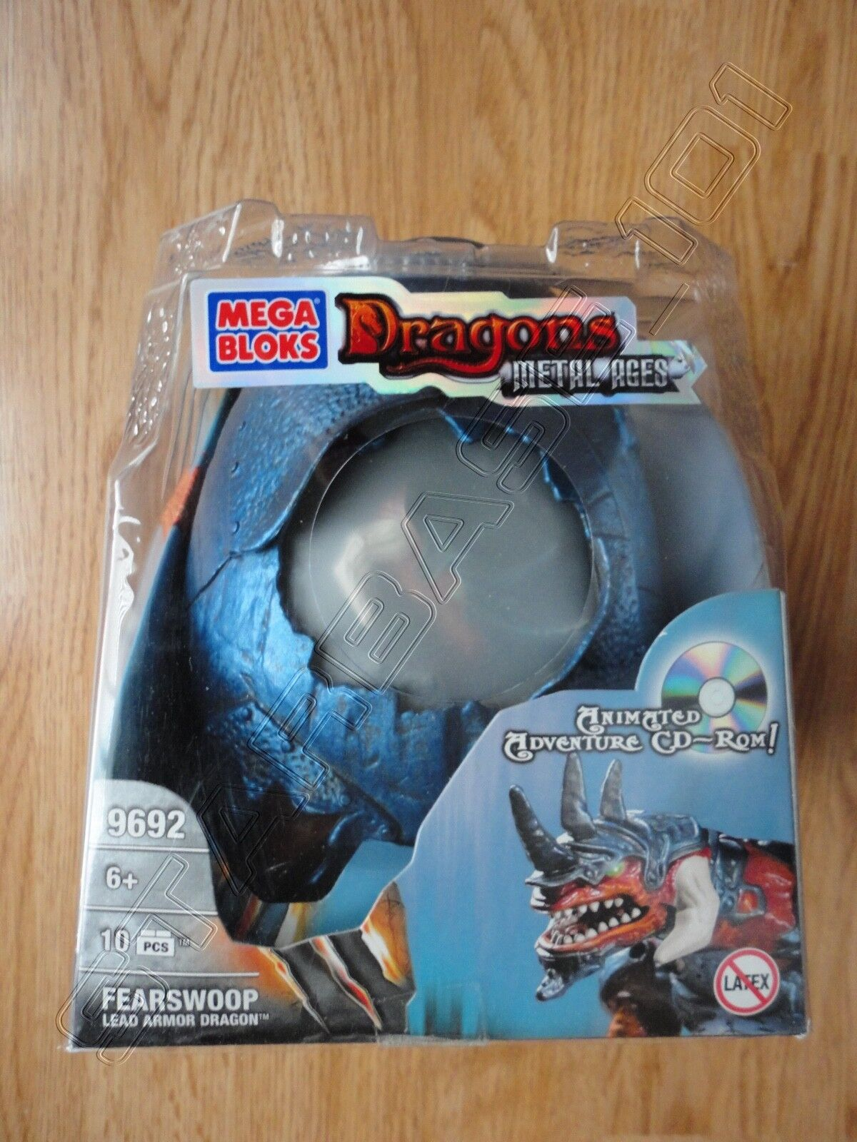 Mega Mega Mega Bloks Dragons Metal Ages FEARSWOOP Lead Dragon Egg - New Sealed ee495d