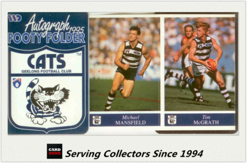 1995 AFL Footy Players Mini multifold picture FolderGeelong