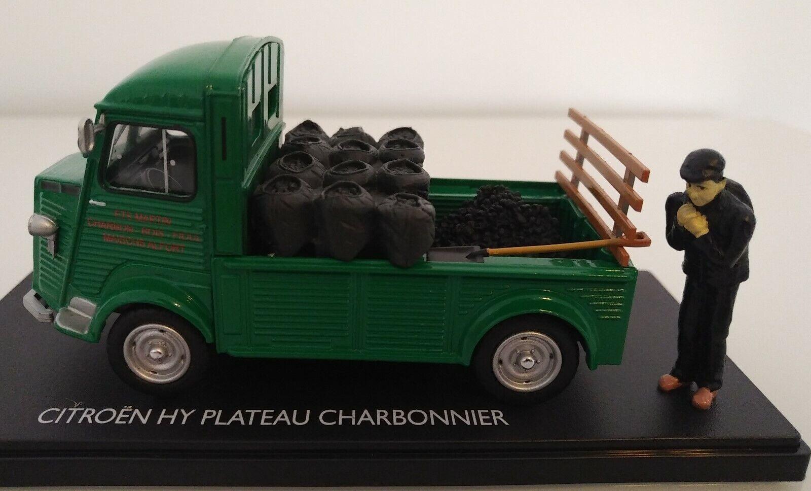 CITROEN TYPE H HY PLATEAU CHARBONNIER MOMACO 1 43 BOITE ELIGOR NOREV FIGURINE