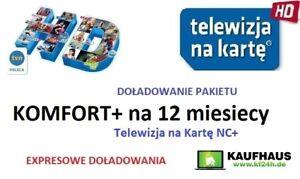 Telewizja N Na Karte Doładowanie.Details Zu Doladowanie Tnk Nc Komfort 12m Telewizja Na Karte Aufladung Polsat Tvn Polsat