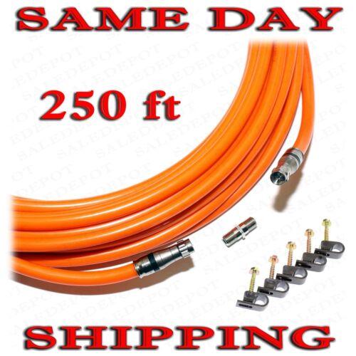 250 FT RG11 COAXIAL UNDERGROUND CABLE DROP INDOOR//OUTDOOR w Gel COAX RG 11 250/'