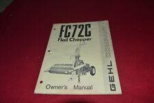 Gehl 1275 Forage Harvester Operator/'s Parts Manual MFPA