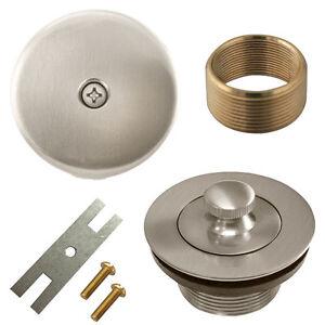 Brushed Nickel Lift And Turn Bathtub Drain Conversion Kit