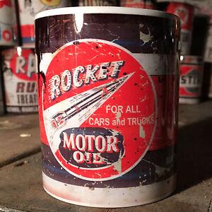 2x-Rocket-Motor-oil-can-Gift-Motorcycle-Car-Mechanic-Gift-11oz-Tea-coffee-mugs