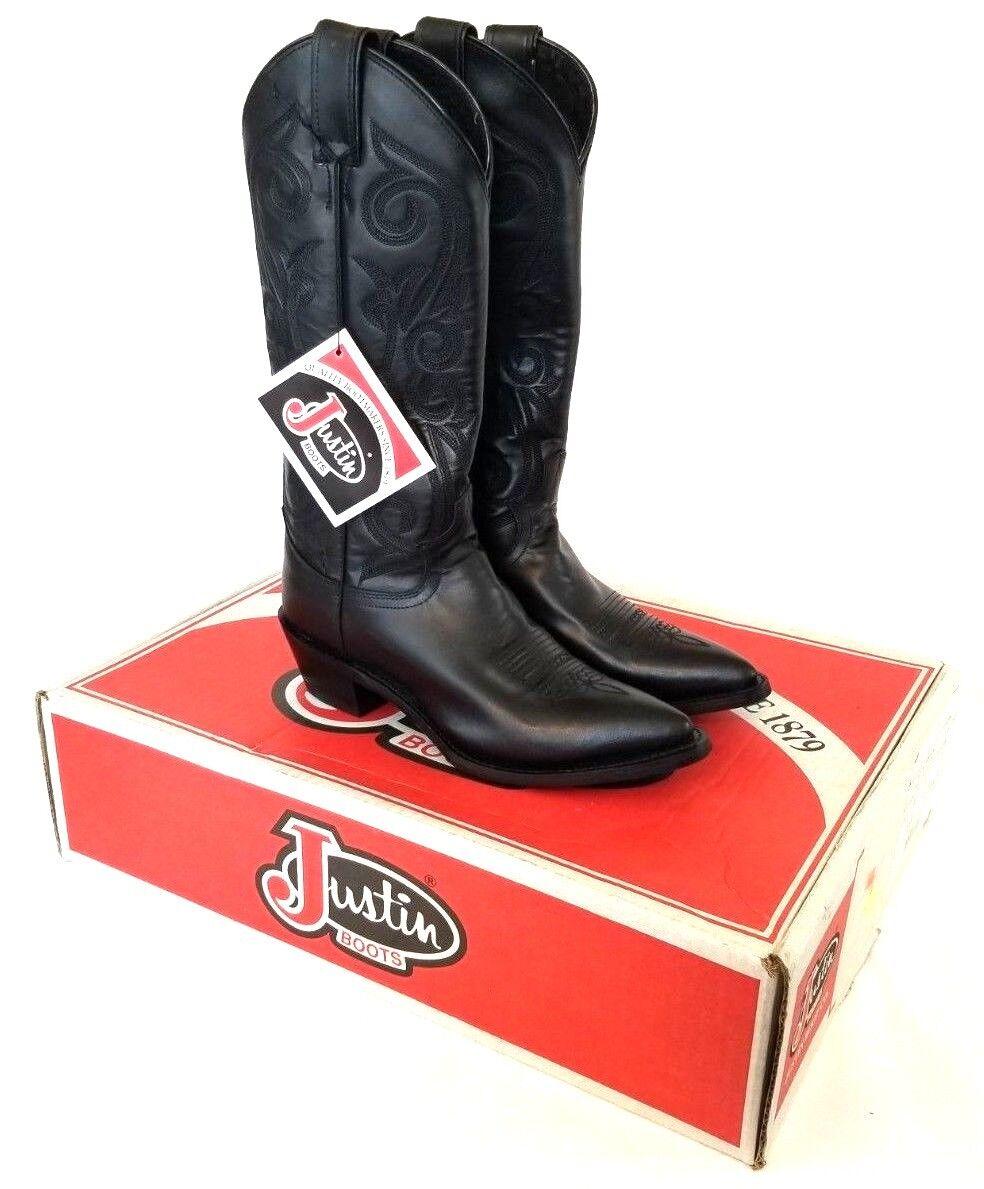 Justin Mujer 13  negro botas de vaquero vaquero vaquero occidental de becerro de Londres US 6.5 B L4909 Z947  las mejores marcas venden barato