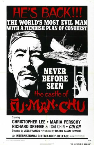 R545 CASTLE OF FU MANCHU movieKung-Fu Bruce Lee-Print Art Silk Poster