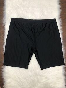 Swimsuits-For-All-Black-Biker-Swim-Short-Size-28-NEW