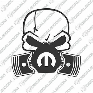 image is loading skull mask mopar window vinyl sticker decals srt