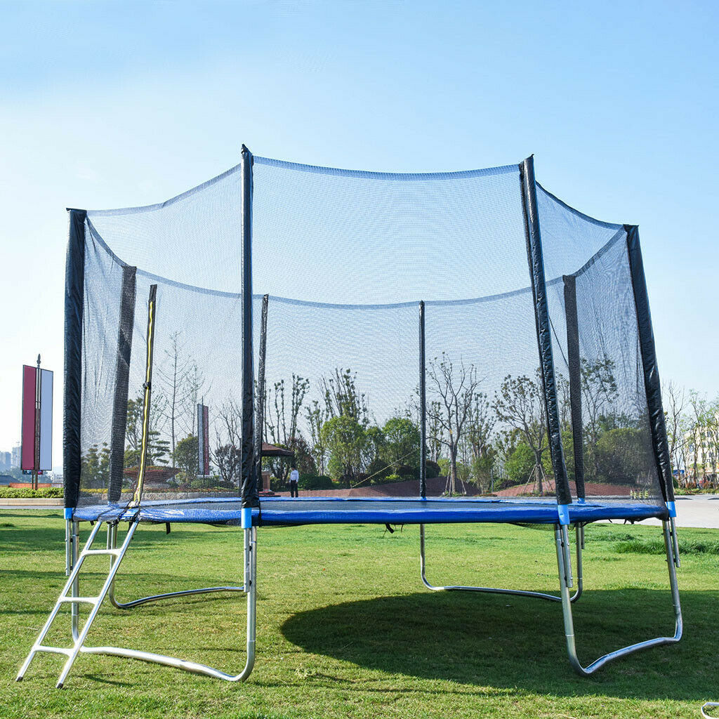 Kids Trampoline with Enclosure Net Durable Fitness Trampoline Indoor Outdoor Trampoline for Boys Grils Children Toddler 1.4m//55inch Colorful Trampoline with Safety Net,Seaballs,Basketball Hoop