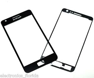 Replacement Front Glass Lens screen for Samsung Galaxy S2 i9100 Black Repair US