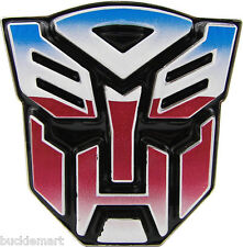 Official 3D Transformers AUTOBOT Belt Buckle Color