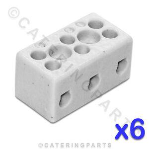 Herzhaft 6 X Keramik Hohe Temperatur Elektrisch Anschlussblöcke 3-polig 6mm 41a Mit Traditionellen Methoden Backformen & Tortenringe
