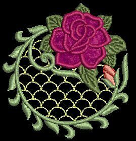 Lacy Rose Applique Lace Machine Embroidery Designs CD