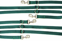 8ft,11ft Police Dog Style Training/Obedience Lead 25mm Cushioned Webbing Green