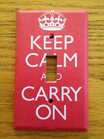 Keep Calm & Carry On Kcco Light Switch Covers Home Decor Outlet
