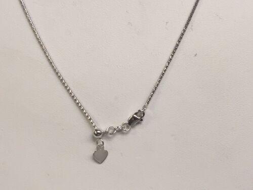 "14kt White Gold 22/"" Adjustable Popcorn Pendant Chain//Necklace 1.3 mm    2.5 gram"