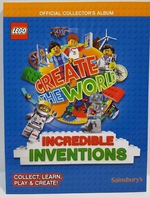 Lego Sainsburys Card Album Create The World Official Book NEW SAME DAY POST