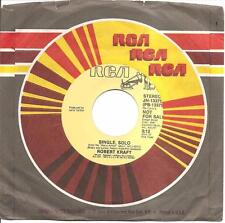 ROBERT KRAFT - Single, Solo (45 RPM Promo Single, 1982) NM
