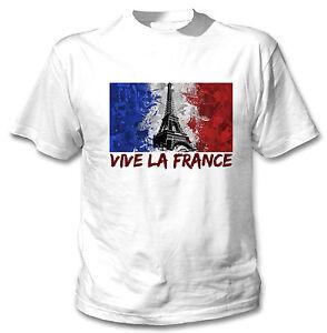 VIVE-LA-FRANCE-PATRIOTIC-FLAG-NEW-AMAZING-WHITE-COTTON-TSHIRT