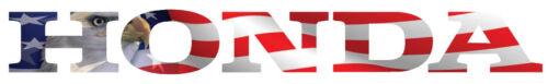 14-19 Honda Pioneer 700 1000-5 Tailgate Lettering Reflective Eagle Flag