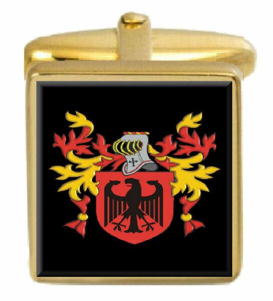 Neueste Kollektion Von Schläfer England Familie Wappen Familienname Gold Manschettenknöpfe Graviert Um Eine Reibungslose üBertragung Zu GewäHrleisten