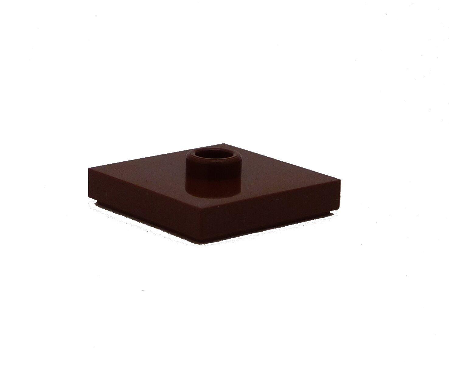 Lego 50x dunkelbraune dark brown Fliese 2x2 Neu Fliesen Kacheln Tile 3068b